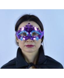 Маска венеция Павлин (фиолетовая) 240216-319