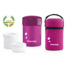 Пищевой термос с герметичными контейнерами Miniland Baby Thermetic розовый 89153