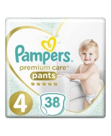 Трусики Pampers Premium Care 9-15 кг Размер 4 Maxi 38 шт