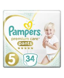 Трусики Pampers Premium Care 12-17 кг Размер 5 Junior 34 шт
