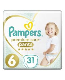 Трусики Pampers Premium Care 15+ кг Размер 6 Extra large 31 шт