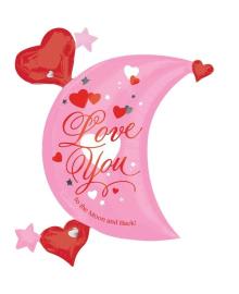 Шар фольга Месяц любви (фигура) 3207-1097