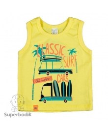 Майка для мальчика SURF желтая Smil 110444