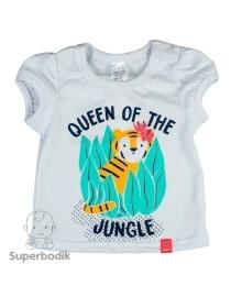 Футболка для девочки Jungle белая Smil 110496