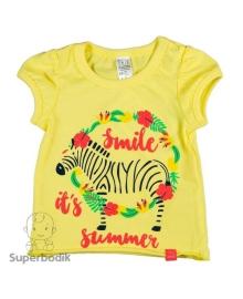 Футболка для девочки Jungle желтая Smil 110496