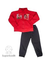 Спортивный костюм для мальчика Footboll красный с черным Фламинго 886-318