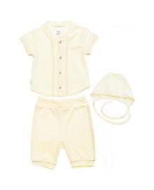Комплект для крещения для мальчика молочный Smil 109947
