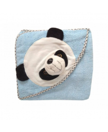Уголок махровый Панда голубой 2108-1