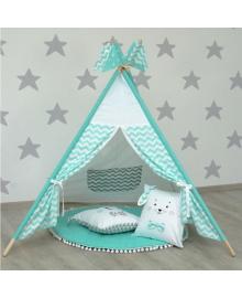 Детская палатка-вигвам Верес с текстильным ковриком и подушками 70.1.01, 2100089844910