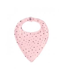 Слюнявчик розовый Little stars MISHKA 1489 Размер  L