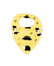 Слюнявчик желтый Динозавры MISHKA 1733 Размер  L
