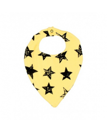 Слюнявчик желтый Stars MISHKA 1734 Размер  L