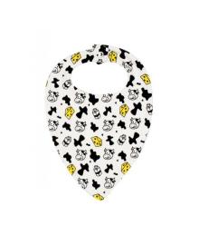 Слюнявчик белый Коровка MISHKA 1735 Размер  L