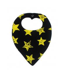 Слюнявчик черный Stars MISHKA 1788 Размер  L