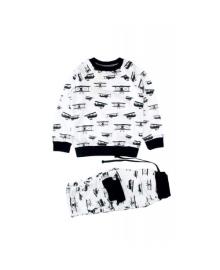 Пижама белая Самолеты MISHKA 1506 Размер