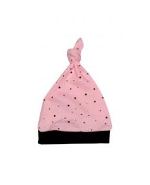Шапочка розовая Little stars узел MISHKA 1761 Размер