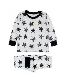 Пижама белая Stars MISHKA 1792 Размер