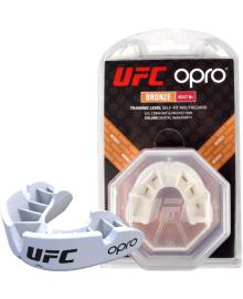 Капа OPRO Bronze UFC Hologram White (art.002258002)