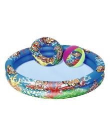 Надувной бассейн Bestway с кругом и мячом 51124