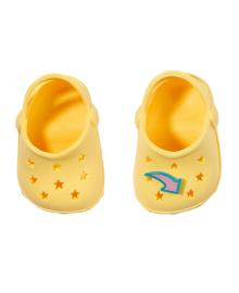 Обувь для куклы BABY BORN - ПРАЗДНИЧНЫЕ САНДАЛИИ С ЗНАЧКАМИ (на 43 сm, желтые)