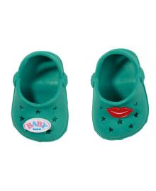 Обувь для куклы BABY BORN - ПРАЗДНИЧНЫЕ САНДАЛИИ С ЗНАЧКАМИ (на 43 сm, зелен.)