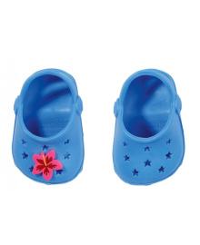 Обувь для куклы BABY BORN - ПРАЗДНИЧНЫЕ САНДАЛИИ С ЗНАЧКАМИ (на 43 сm, голуб.)