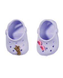 Обувь для куклы BABY BORN - ПРАЗДНИЧНЫЕ САНДАЛИИ С ЗНАЧКАМИ (на 43 сm,лаванд.)