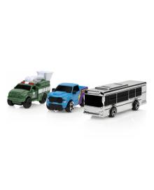 Игровой набор Micro Machines Bus Racing Silver S2, 3 шт