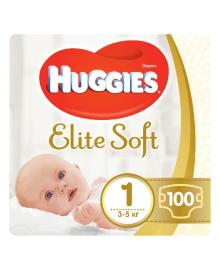 Подгузники Huggies Elite Soft 1 (3-5 кг) 100 шт