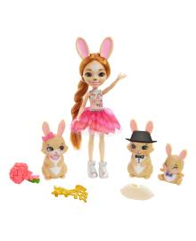 Игровой набор Enchantimals Royals Семья кроликов с куклой Бристал GYJ08