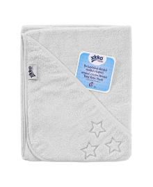 Полотенце махровое с капюшоном XKKO Organic White Stars 90х90 см