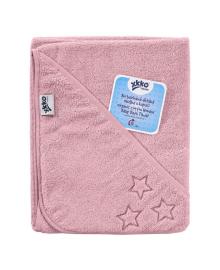 Полотенце махровое с капюшоном XKKO Organic Pink Stars 90х90 см