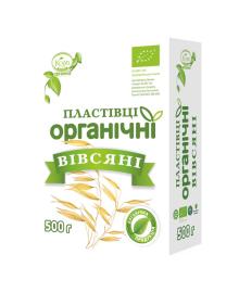 Хлопья органические Козуб продукт Овсяные резаные 500 г