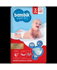 Підгузки дитячі одноразові Jumbo (3) MIDI (4-9 кг), TM Bambik 43405200, 4823071645743
