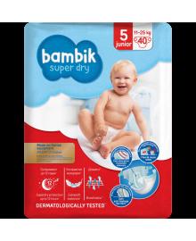 Підгузки дитячі одноразові Jumbo (5) JUNIOR (11-25 кг), TM Bambik 43405600, 4823071642063