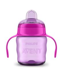 Чашка непроливайка Philips Avent розовая 200 мл