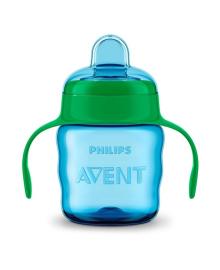 Чашка непроливайка Philips Avent голубая 200 мл