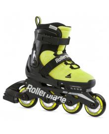 Ролики детские Rollerblade Microblade SE Neon Yellow Black 2021 (Желто-черный неон, 36,5 - 40,5)