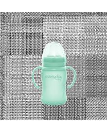 Стеклянный детский поильник с силиконовой защитой Everyday Baby 150 мл, цвет мятный 10307