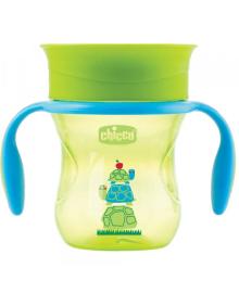 """Чашка пластиковая для питья """"Perfect Cup"""" 200мл. от 12 месяцев (нейтральная / зеленая)"""
