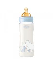 """Бутылка пластиковая """"ORIGINAL TOUCH"""" 330мл.соска латексная от 4 месяцев переменный поток (мальчик)"""