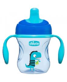 """Чашка пластиковая для питья """"Training Cup"""" 200мл. от 6 месяцев (голубая) CHICCO 06921.20.03"""