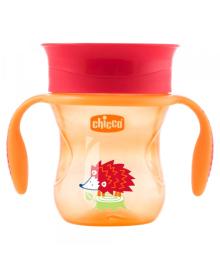 """Чашка пластиковая для питья """"Perfect Cup"""" 200мл. от 12 месяцев (нейтральная / оранжевая) CHICCO 06951.30.02, 2900990759743"""