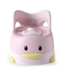 Детский горшок Babyhood Утенок с полиуретановым кольцом Розовый