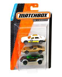Подарочный набор автомобилей Matchbox (3 шт.) (в асс.) Mattel C3713
