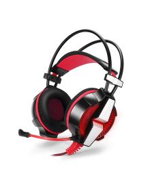 Игровая гарнитура KOTION GS700 Черный+Красный проводные наушники для ПК со светодиодной подсветкой 4892-15603