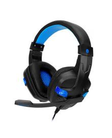Проводная гарнитура SOYTO SY860MV Black + Blue игровые наушники с микрофоном 5218-16368