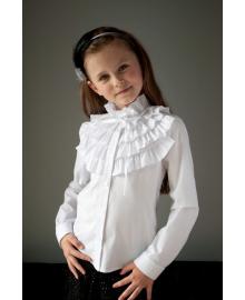 """Шкільна нарядна блузка """"Світ блуз"""" мод.2093 біла Sweet 2093 белый"""