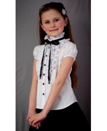 """Шкільна блузка біла на короткий рукав """"Світ блуз"""" мод. 2071к Свит блуз"""