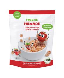 Сухие завтраки органические Freche Freunde Яблоко Клубника 125 г